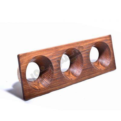 قاب هالوژن چوبی مخروط عمیق (سه قلو)