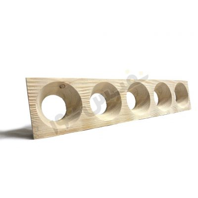 قاب هالوژن چوبی مخروط عمیق (پنج قلو)