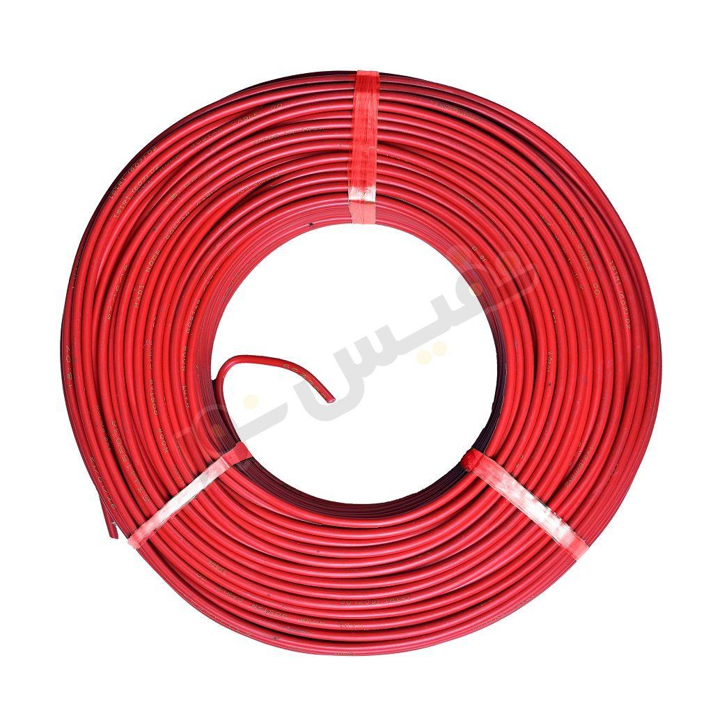 سیم برق افشان 2.5 قرمز هادی نور گستر (پارسیم)