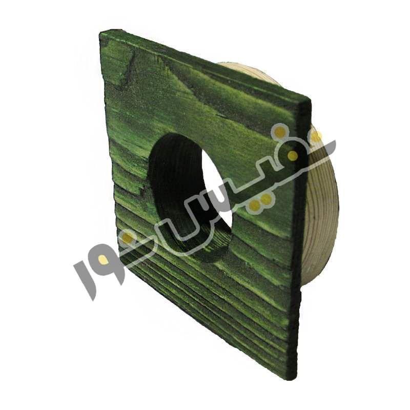 قاب هالوژن چوبی تخت مربع کوچک