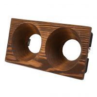 قاب هالوژن چوبی مخروط عمیق دو قلو کد 1262