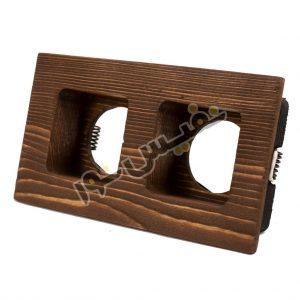 خرید و قیمت قاب هالوژن چوبی دکوراتیو لوکس لاکچری مربع تیپ 1 دو قلو کد 1282 نور ایلیا