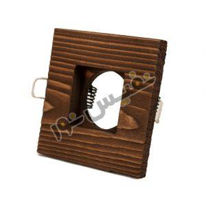 خرید و قیمت قاب هالوژن چوبی لوکس دکوراتیو لاکچری مدرن تخت مربع کلاسیک مدل 1214