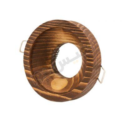 قاب هالوژن چوبی حجم دار عمیق یک قلو کد 1222