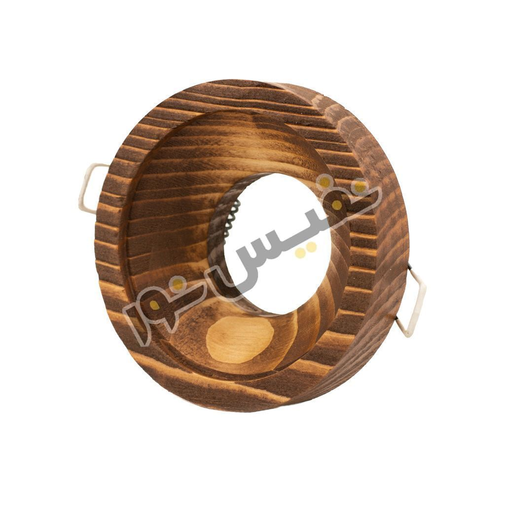 خرید و قیمت قاب هالوژن چوبی دکوراتیو لاکچری لوکس مدرن حجم دار کد 1222 نور ایلیا