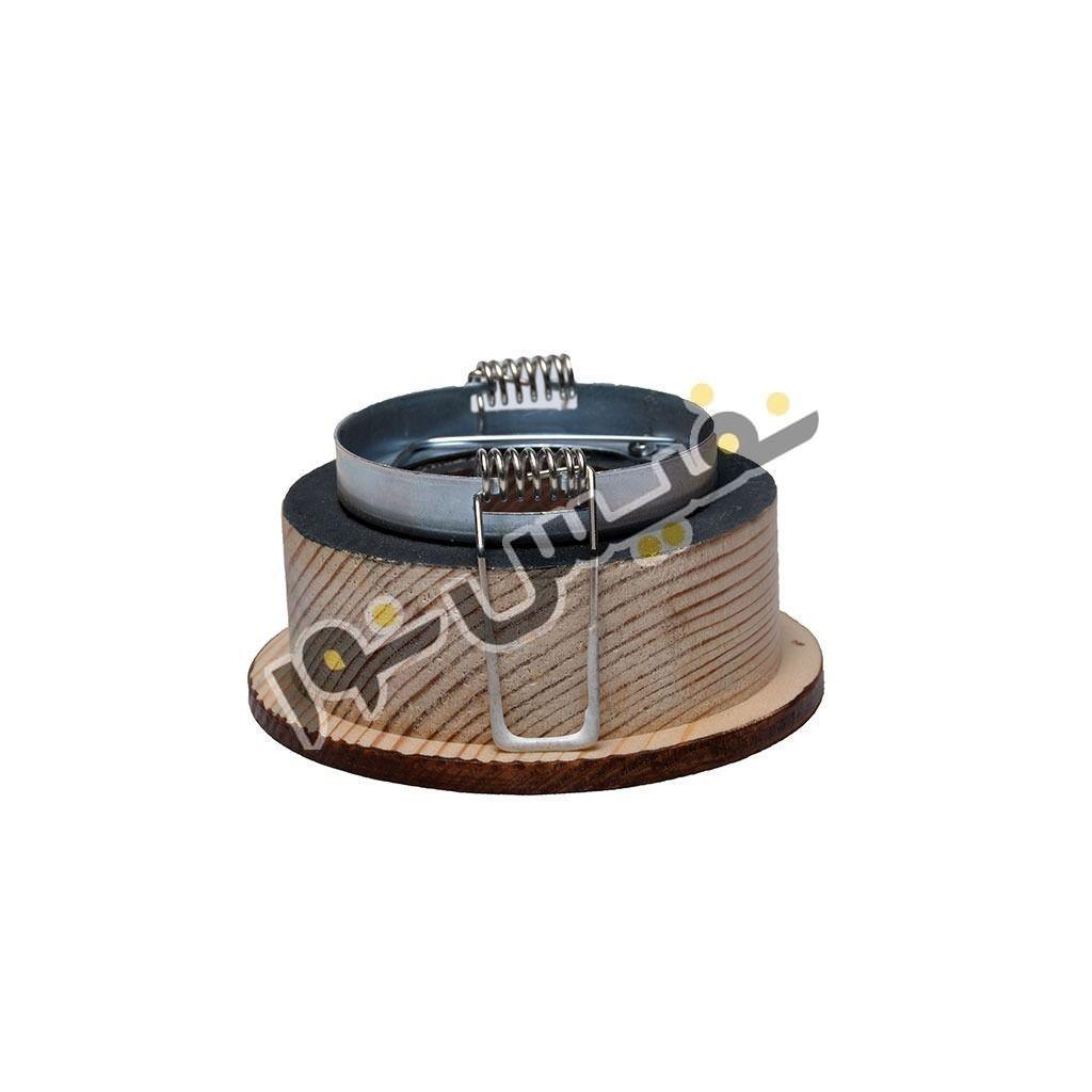 قاب هالوژن چوبی حجم دار عمیق (یک قلو)