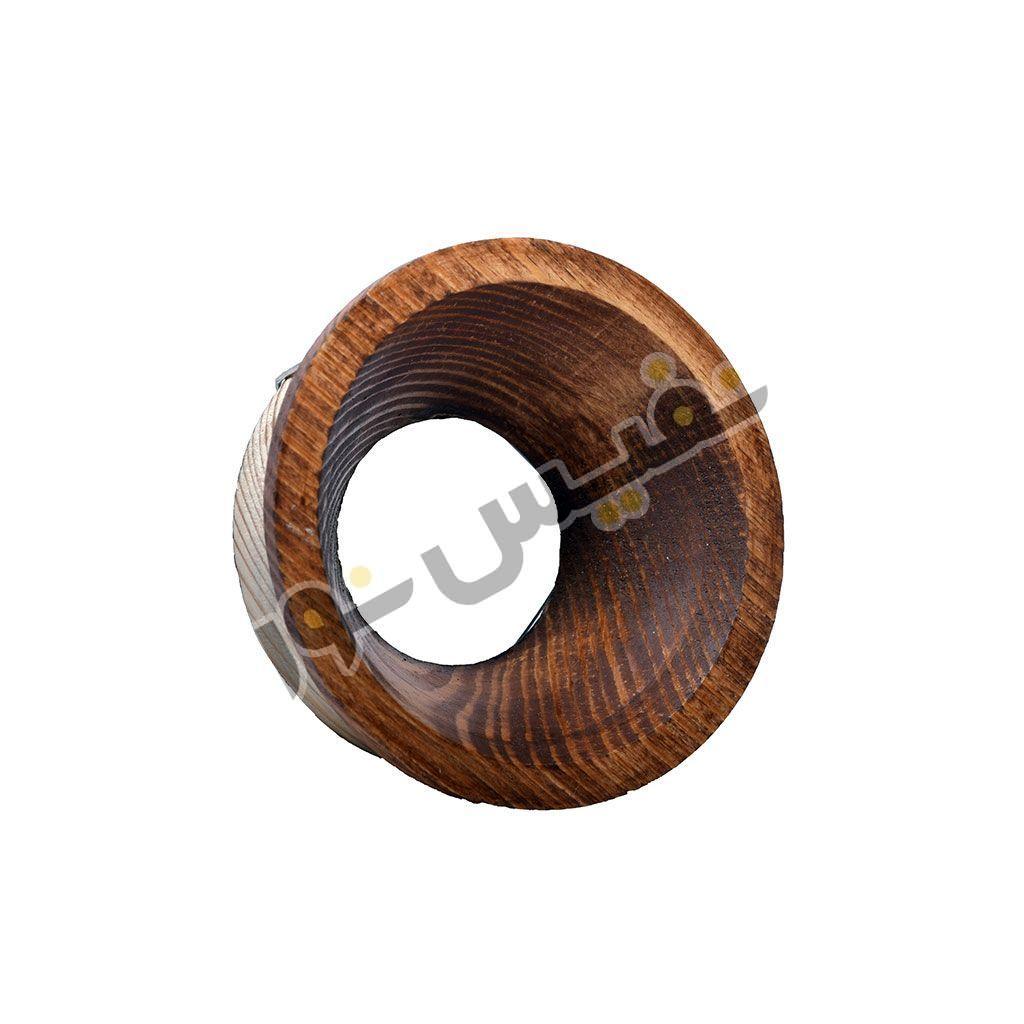 خرید و قیمت قاب هالوژن چوبی دکوراتیو لاکچری مدرن مخروطی تیپ 2 کد 1224 نور ایلیا