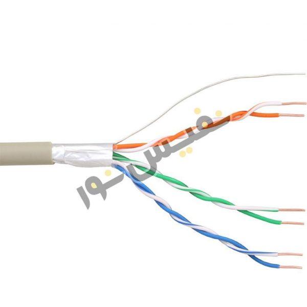 خرید و قیمت کابل تلفن و آیفون شش زوج فویلدار ضد نویز CCA هادی نور گستر