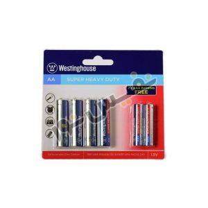 خرید و قیمت باتری قلمی و نیم قلمی اصلی ارزان قیمت وستینگهاوس مدل Super Heavy Duty (بسته 6 عددی)