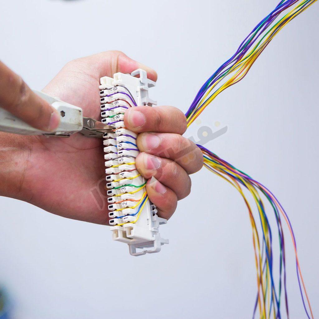 خرید کابل تلفن دو زوجی فویلدار ضد نویز هادی نور گستر