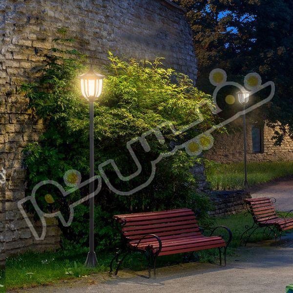 خرید و قیمت چراغ حیاطی پارکی سرلوله پلاستیکی خمره ای OL01-S