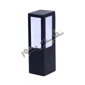 خرید و قیمت چراغ دیواری حیاطی پارکی مکعبی فلزی سه طرفه 9001/D/30