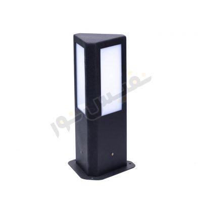 چراغ محوطه ای چمنی سه طرفه ، مثلثی الماسی ، با سرپیچ E27 برای لامپهای LED، ارتفاع 30 سانتیمتر