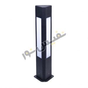 خرید و قیمت چراغ چمنی پارکی باغچه ای حیاطی مثلثی سه طرفه فلزی CH/55/9003