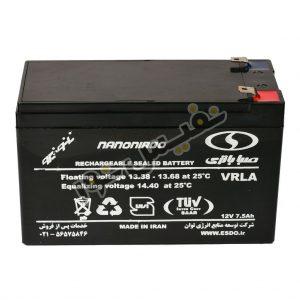 باتری یو پی اس 12 ولت 7.5 آمپر صبا باتری مدل SB