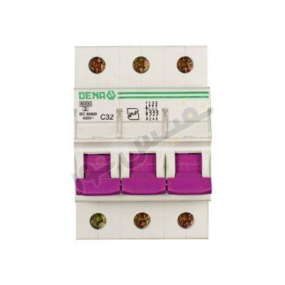 فیوز مینیاتوری سه فاز 32 آمپر دنا الکتریک مدل C32