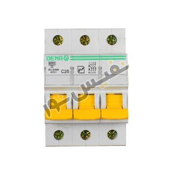 فیوز مینیاتوری سه فاز 25 آمپر دنا الکتریک مدل C25