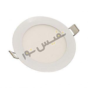 خرید و قیمت چراغ پنل ال ای دی سقفی کم مصرف گرد توکار 7 وات ارزان آفتابی و مهتابی ایرانی آژیراک