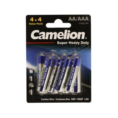 باتری قلمی و نیم قلمی کملیون مدل Super Heavy Duty (بسته 8 عددی)