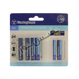 خرید و قیمت باتری قلمی و نیم قلمی اصلی ارزان قیمت وستینگهاوس مدل Dynamo Alkaline (بسته 6 عددی)