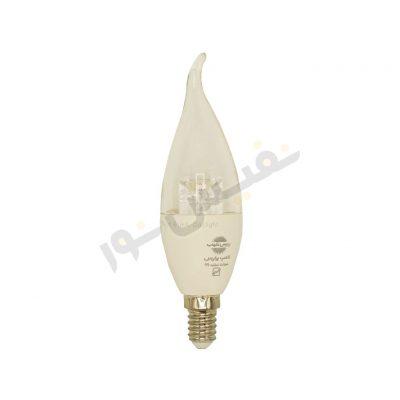 خرید و قیمت لامپ شمعی ال ای دی کم مصرف ارزان آفتابی و مهتابی اشکی شفاف 7 وات پارس شهاب