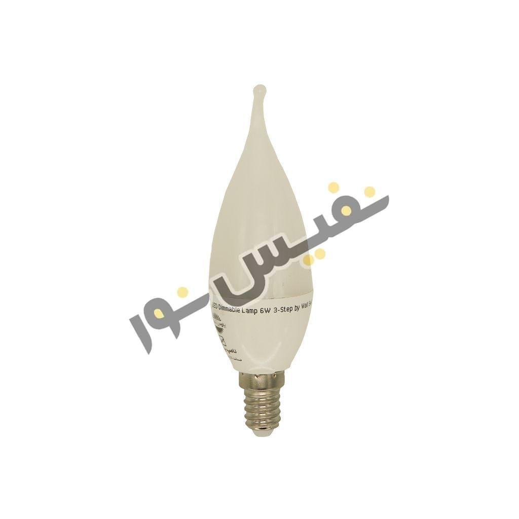 لامپ ال ای دی 6 وات پارس شهاب مدل اشکی مات