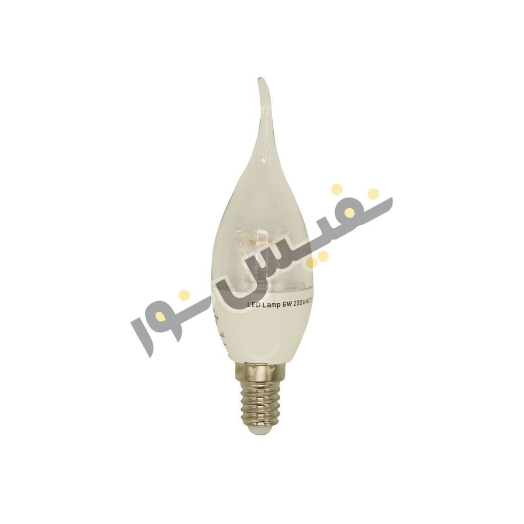 لامپ ال ای دی 6 وات پارس شهاب مدل اشکی شفاف