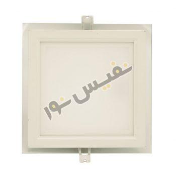 چراغ سقفی دورشیشهای مربع 18 وات پارس شهاب