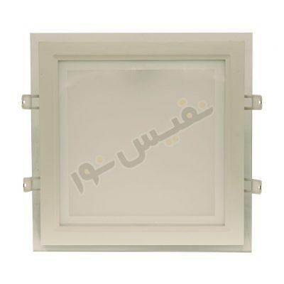 چراغ سقفی دورشیشهای مربع 30 وات پارس شهاب