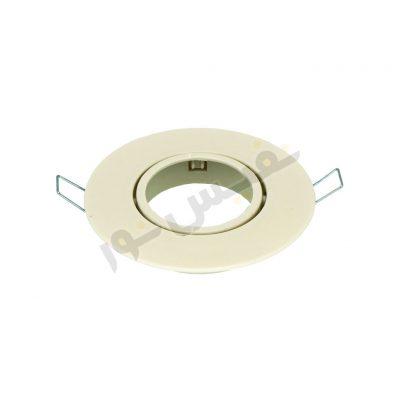 قاب هالوژن ABS پلاستیکی کد 2011 (بسته 2 عددی به همراه سوکت)