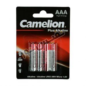 خرید و قیمت باتری نیم قلمی اصلی کملیون ارزان قیمت مدل Plus Alkalaine (بسته 4 عددی)