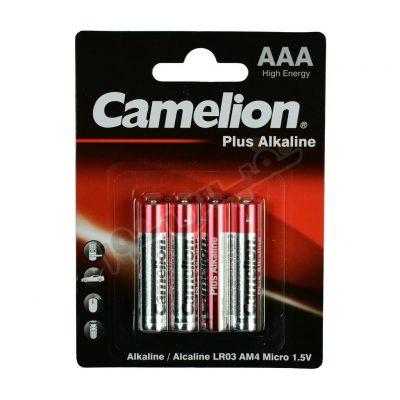 باتری نیم قلمی کملیون مدل Plus Alkalaine (بسته 4 عددی)