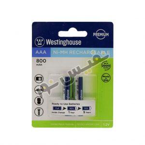 خرید و قیمت باتری قابل شارژ نیم قلمی ارزان قیمت وستینگهاوس اصلی مدل Ni-MH Rechargeable (بسته 2 عددی)