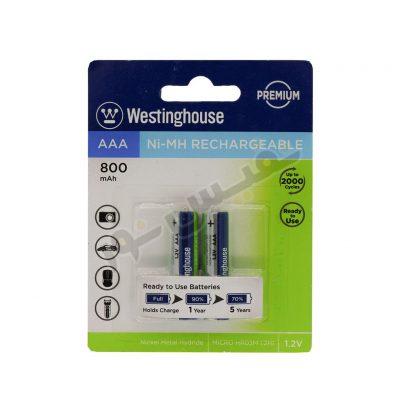 باتری قابلشارژ نیم قلمی وستینگهاوس مدل Ni-MH Rechargeable (بسته 2 عددی)