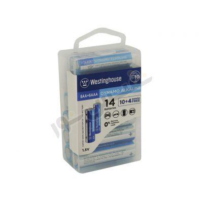 باتری قلمی و نیم قلمی وستینگهاوس مدل Dynamo Alkaline (بسته14 عددی)
