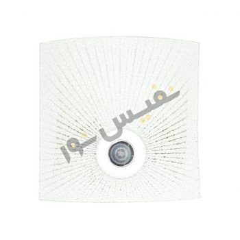 قاب چراغ دیواری 2 لامپ سنسوردار شیشه ای