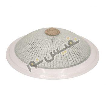 قاب چراغ سقفی 2 لامپ شیشه ای