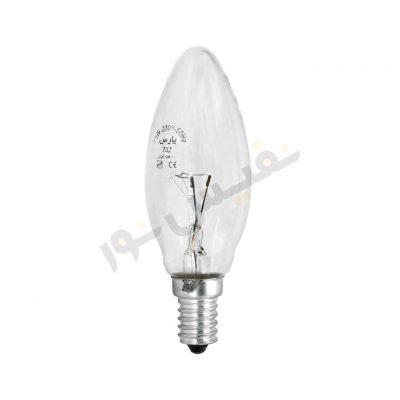لامپ رشتهای شمعی ساده 40 وات پارس شهاب (بسته 2 عددی)