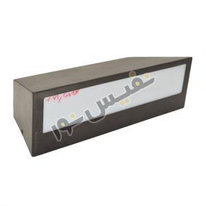 خرید و قیمت چراغ دیواری دکوراتیو حیاطی و پارکی فلزی ذوزنقه Z7061/D/2GU10