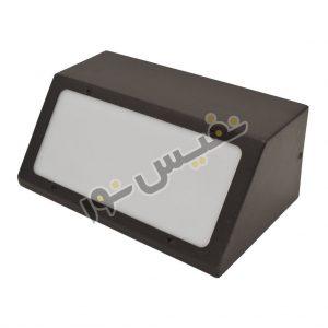 خرید و قیمت چراغ دیواری دکوراتیو حیاطی و پارکی فلزی زاویه دار ذوزنقه 4004L/D