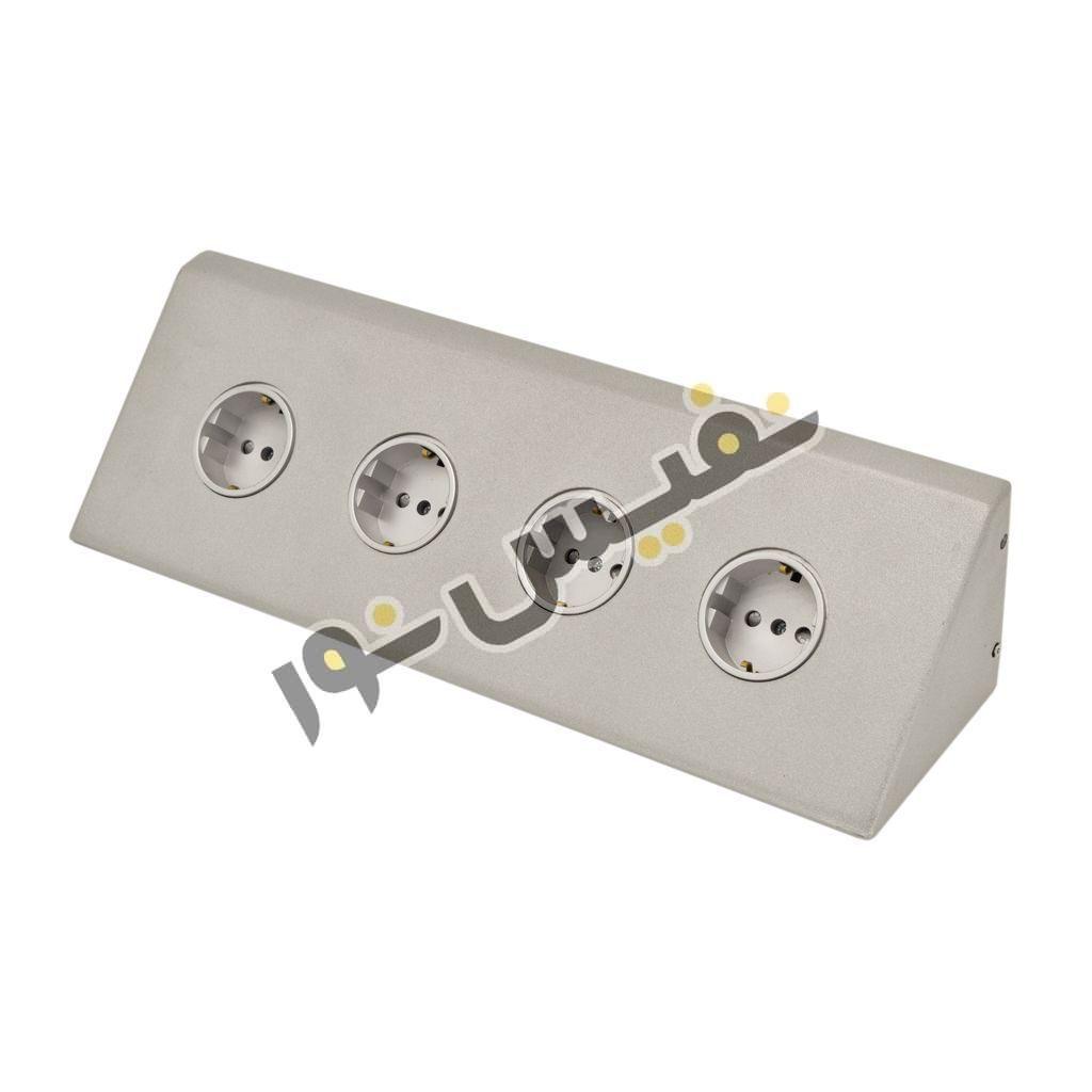 پریز روکار کنج 4 خانه کابینت مدل OUTLET PACKAGE 4