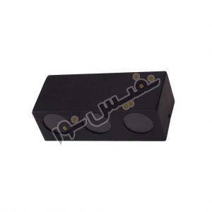 خرید و قیمت چراغ دیواری حیاطی و پارکی دکوراتیو سه تایی فلزی M7005/D/12/3GU10