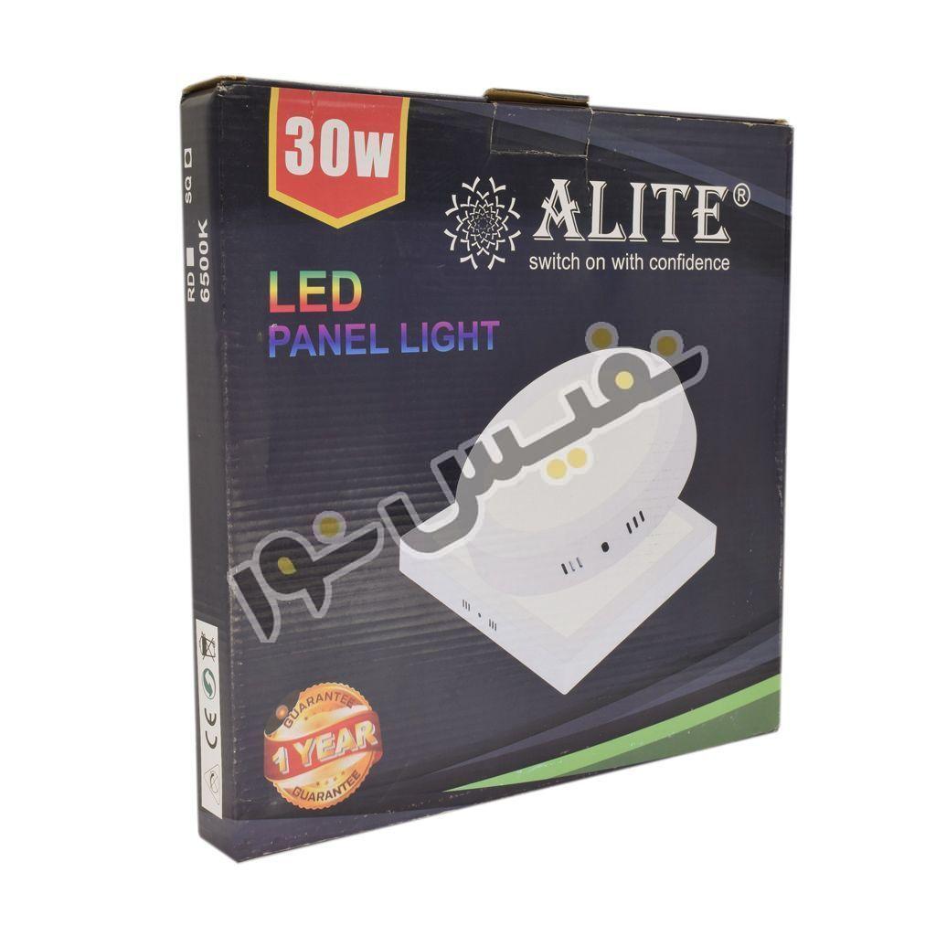 چراغ سقفی روکار مربع 30 وات الیت ALITE