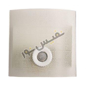 قاب چراغ دیواری 2 لامپ سنسوردار شیشه ای مدل مارپیچ