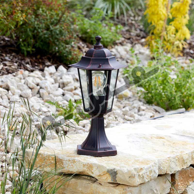 خرید و قیمت چراغ حیاطی پارکی سردری پلاستیکی OL01-P خمره ای
