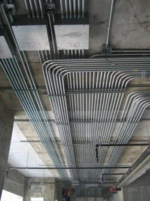 لوله و اتصالات ( زانو_لوله پلی اتلین_لوله فولادی_لوله پی وی سی ) (Electrical pipes and fittings )