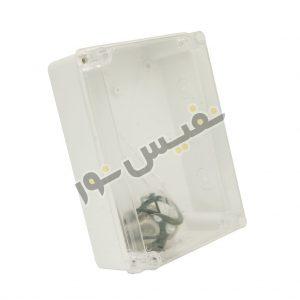 جعبه تقسیم پلاستیکی ABS با درپوش شفاف سایز 20x15