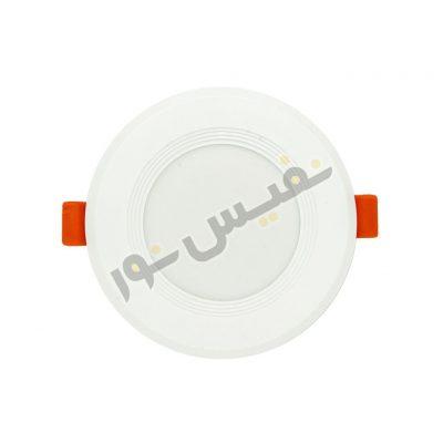 چراغ ال ای دی سقفی ۷ وات دور سرامیکی یونیک لایت (بسته دو عددی)