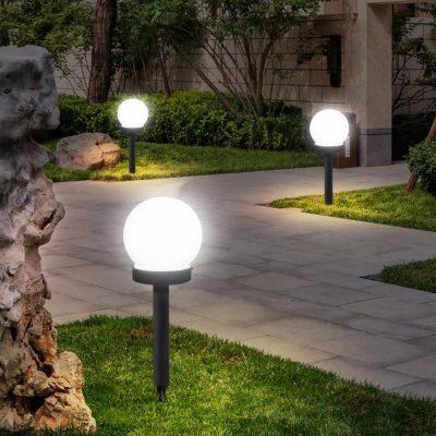 چراغ چمنی پایه بلند و کوتاه (Garden lights)