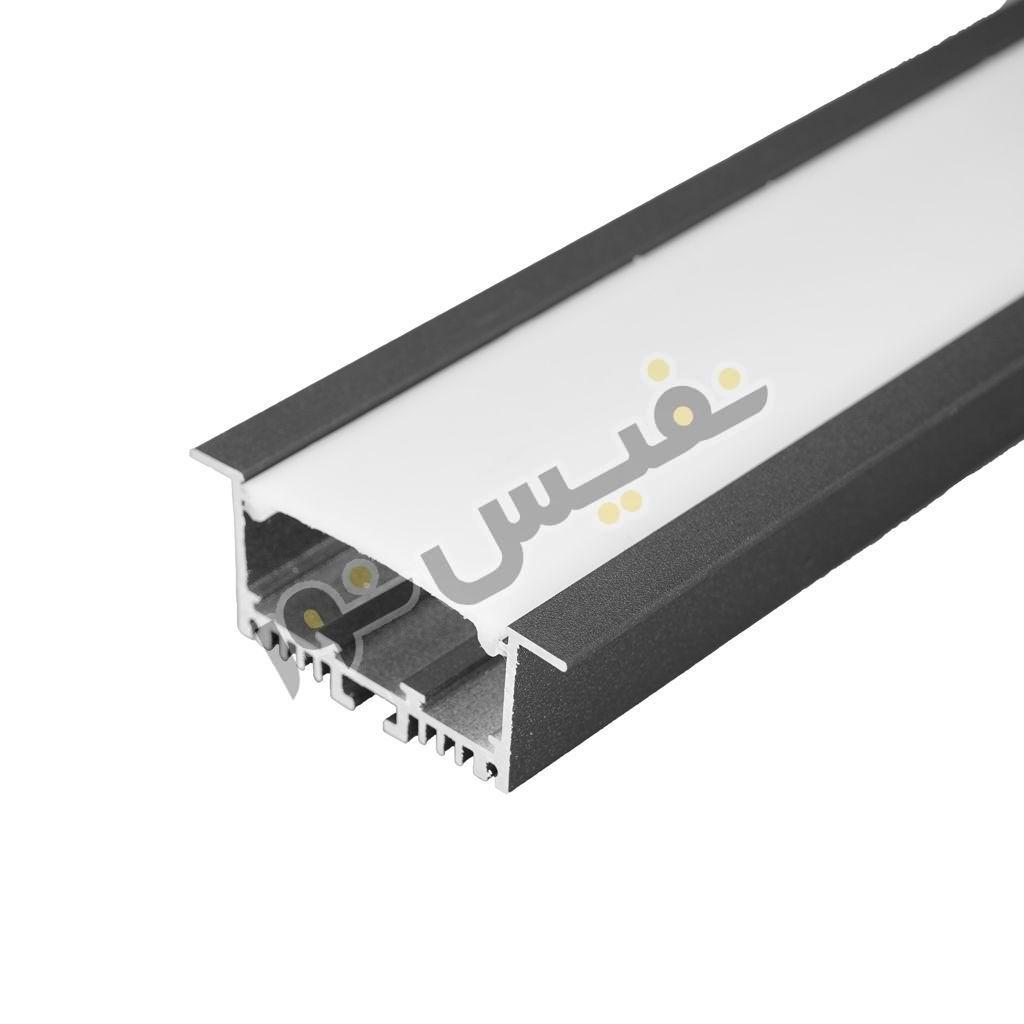 خرید و قیمت چراغ خطی لاینی linear لاینر ال ای دی LED توکار آلومینیوم 24 وات نفیس نور